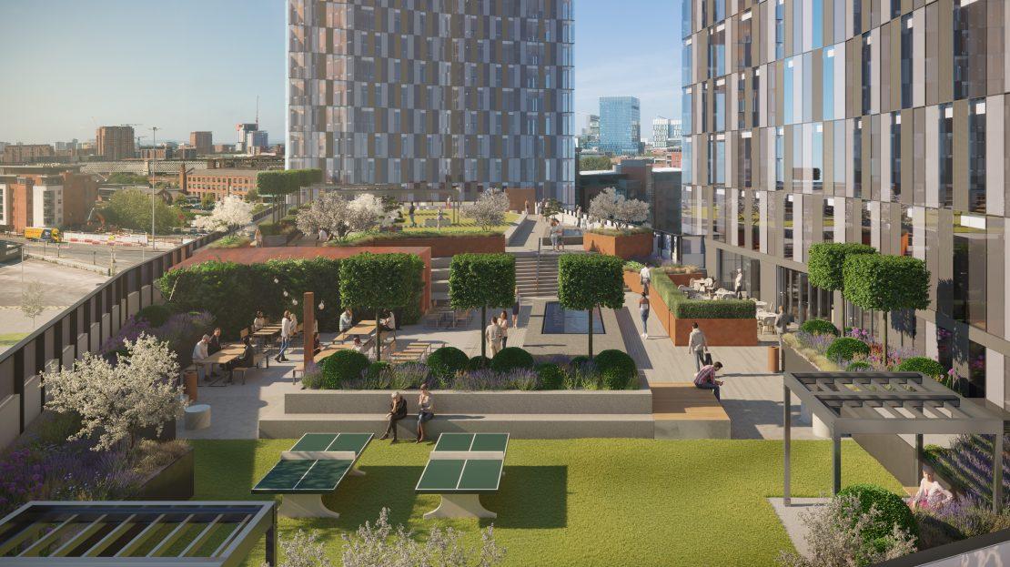 Deansgate Square garden