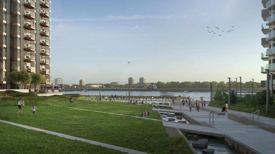 Royal Arsenal Riverside view