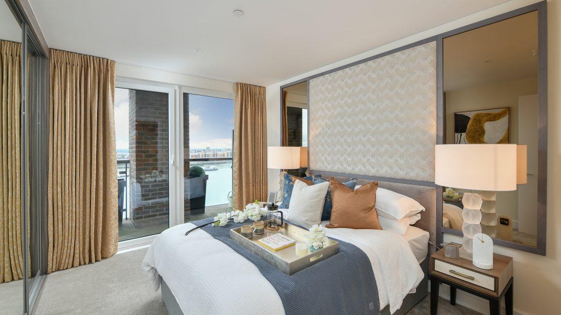 Royal Arsenal Riverside view Luxury Interior Design London Apartment