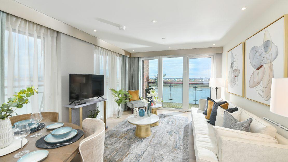 Royal Arsenal Riverside view Luxury London Apartment